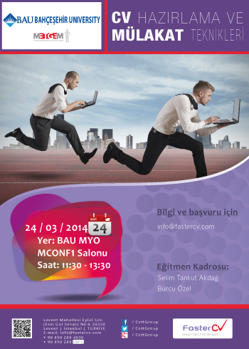Bahcesehir University CV preparation training and the practical information