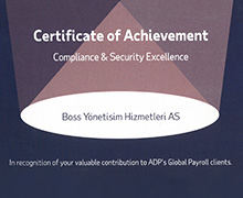 Achievement certification on Compliance and Security Excellence 2019 - Vienna