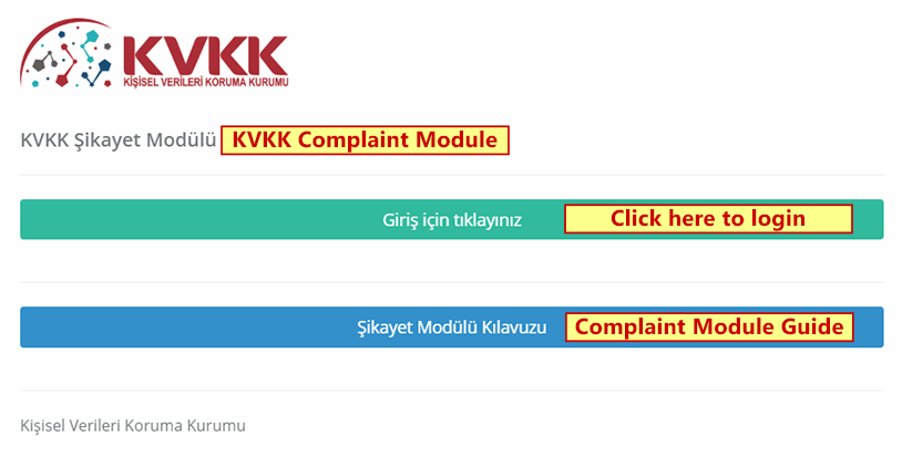 KVKK Complaint Module