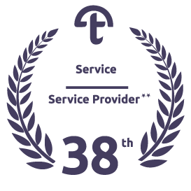 Ranked 38th as Service Provider