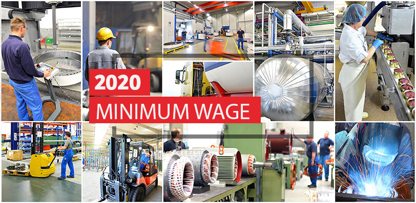 2020 Minimum Wage & the Minimum Subsistence Allowance Rates (MSA)