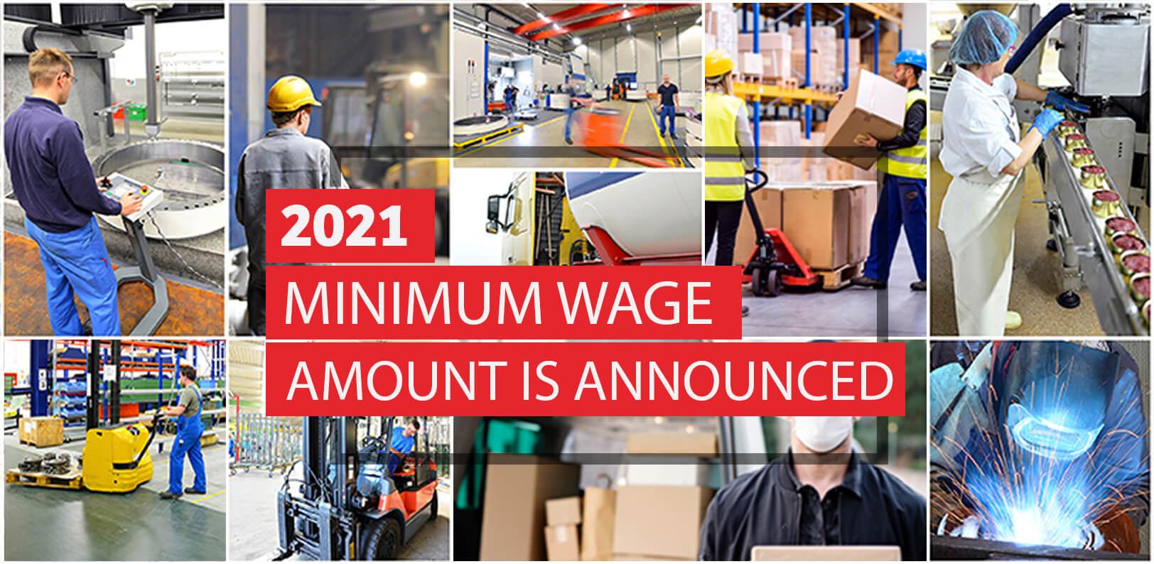 2021 Minimum Wage & the Minimum Subsistence Allowance Rates (MSA)