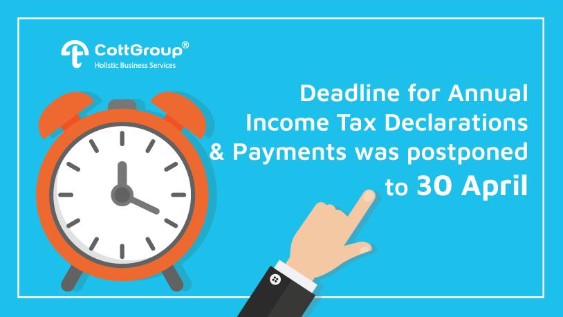 2019 Tax Declaration Deadline was Postponed to 30.04.2020