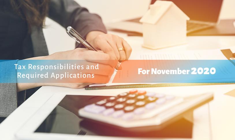 Notice for the Legal Obligations for November 2020