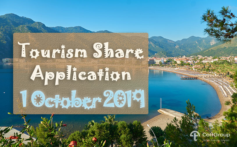 Tourism Share Application Is Starting on 1 October 2019
