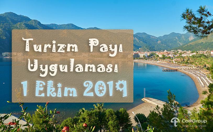 Turizm Payı Uygulaması 1 Ekim 2019'da Başlıyor