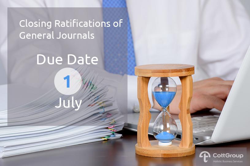 2018 Closing Ratifications of General Journals